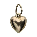 14Kt Gold-filled Puffy Heart Charm