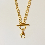 18 Inch Gold Stainless Steel Toggle Chain for Floating Locket