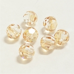 Crystal Golden Shadow 6mm Swarovski Faceted Round, Pkg. of 12
