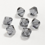 Graphite 3mm Swarovski Xilion Bicone, Pkg. of 24