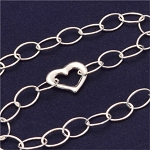 Sterling Silver Heart Accent Bracelet, 7 Inches