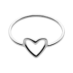 Sterling Silver Heart Stacking Ring, Size 7