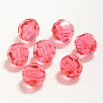 Indian Pink 6mm Swarovski Faceted Round, Pkg. of 12
