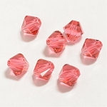 Indian Pink 6mm Swarovski Xilion Bicone, Pkg. of 12
