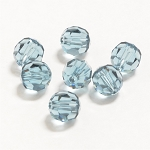 Indian Sapphire 6mm Swarovski Faceted Round, Pkg. of 12