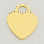 Heart Ionic Gold-Plated Engraving Blanks, Pkg. of 10