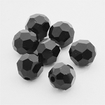 Jet 6mm Swarovski Faceted Round, Pkg. of 12