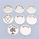Large Stainless Steel Plate for Floating Locket (Set #2)