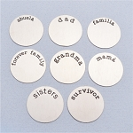 Large Stainless Steel Plate for Floating Locket (Set #3)