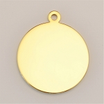 27mm Circle Ionic Gold-Plated Engraving Blanks, Pkg. of 10