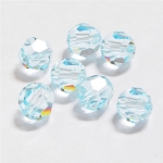 Light Azore 6mm Swarovski Faceted Round, Pkg. of 12