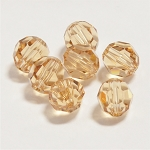 Light Colorado Topaz 6mm Swarovski Faceted Round, Pkg. of 12