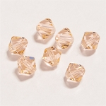 Light Peach 6mm Swarovski Xilion Bicone, Pkg. of 12