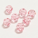 Light Rose 6mm Swarovski Faceted Round, Pkg. of 12