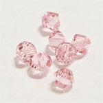Light Rose 6mm Swarovski Xilion Bicone, Pkg. of 12