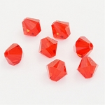 Light Siam 6mm Swarovski Xilion Bicone, Pkg. of 12