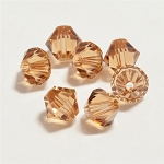 Light Smoked Topaz 6mm Swarovski Xilion Bicone, Pkg. of 12