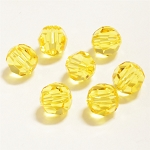 Light Topaz 6mm Swarovski Faceted Round, Pkg. of 12