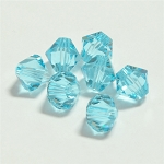 Light Turquoise 6mm Swarovski Xilion Bicone, Pkg. of 12