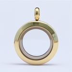 20mm Magnetic Gold Stainless Steel Floating Locket
