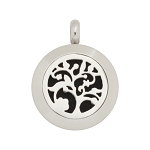 Mini 20mm Magnetic Stainless Steel Essential Oil Diffuser Locket with Tree Design