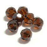 Mocca 6mm Swarovski Faceted Round, Pkg. of 12
