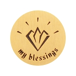 Large Gold Stainless Steel My Blessings Backplate