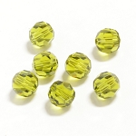 Olivine 6mm Swarovski Faceted Round, Pkg. of 12