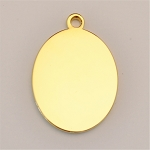 16 x 20mm Oval Ionic Gold-Plated Engraving Blanks, Pkg. of 10
