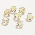 Crystal Paradise Shine 10mm Swarovski Faceted Round, Pkg. of 4