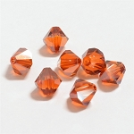 Crystal Red Magma 3mm Swarovski Xilion Bicone, Pkg. of 24