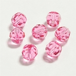 Rose 8mm Swarovski Faceted Round, Pkg. of 6