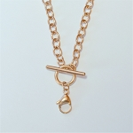 18 Inch Rose Gold Stainless Steel Toggle Chain for Floating Locket