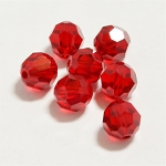 Scarlet 6mm Swarovski Faceted Round, Pkg. of 12