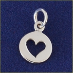 Sterling Silver Heart Cutout Charm