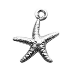 Sterling Silver Puffy Starfish Charm