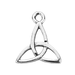 Sterling Silver Celtic Triquetra Cross Charm, Double-Sided