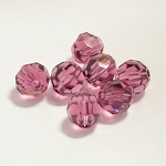 Amethyst 8mm Swarovski Faceted Round, Pkg. of 6