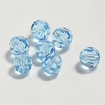 Aquamarine 8mm Swarovski Faceted Round, Pkg. of 6
