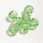Peridot 8mm Swarovski Faceted Round, Pkg. of 6