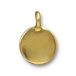 TierraCast Blank Charm, Bright Gold