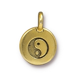 TierraCast Yin Yang Charm, Antique Gold