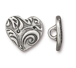 TierraCast AMOR Heart Button, Pewter