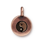 TierraCast Yin Yang Charm, Antiqued Copper