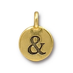 TierraCast Ampersand Charm, Antique Gold