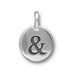 TierraCast Ampersand Charm, Antique Silver