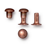 TierraCast 4mm Compression Rivets, Antiqued Copper Plated Brass, Package of 10