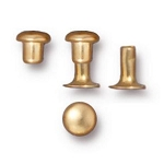 TierraCast 4mm Compression Rivets, Bright Gold Plated Brass, Package of 10
