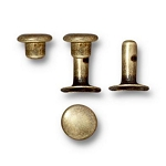 TierraCast 6mm Compression Rivets, Brass Ox, Package of 10