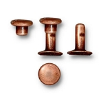 TierraCast 6mm Compression Rivets, Antiqued Copper Plated Brass, Package of 10